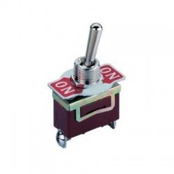 JS-510G páčkový prepínač, 1-pólový, ON-OFF-ON, vratný