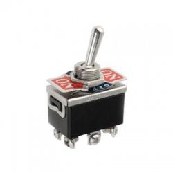 JS-511G páčkový prepínač, 2-pólový, ON-OFF-ON, vratný