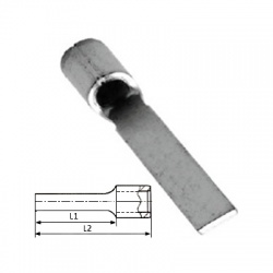 0,75-1mm2, lisovací kolík neizolovaný, plochý
