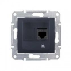 SDN4300170 1xRJ45 UTP Cat.5E zásuvka, grafit