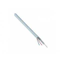 VCEJY 75+2x0,8 koaxiálny kábel s napájaním, 1,9mm