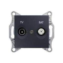 SDN3401670 TV-SAT zásuvka, 1dB, koncová, grafit