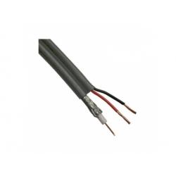 Koaxiálny kábel s napájaním, 2x2x0,5