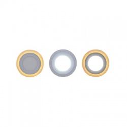 WD152 12W + 4W LED podsvietený panel, okrúhly