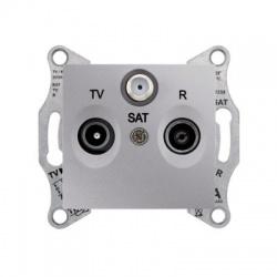 SDN3501360 TV-SAT-R zásuvka, 1dB, koncová, hliník