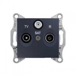 SDN3501470 TV-SAT-R zásuvka, 4dB, priebežná, grafit