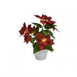 SCF5 LED vianočná ruža, 5 LED, teplá biela