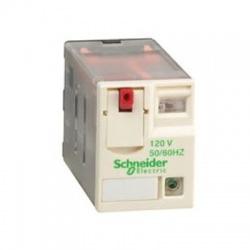 4 prep. kontakt, 230V, AC, 6A, miniatúrne relé s LED kontrolkou