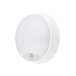LED vonkajšie osvetlenie so senzorom, IP54,14W, 1000lm, 4000K, 22cm, neutrálna biela