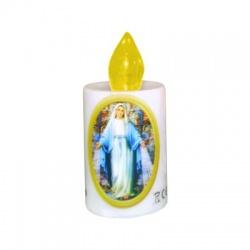 "LUNARIS LED sviečka ""Panna Mária"", 2xR6, žltý plameň"