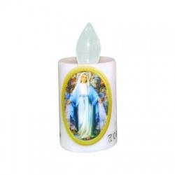 """LUNARIS LED sviečka """"Panna Mária"""", 2xR6, biely plameň"""