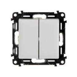 752108 vypínač č.5B (6+6), biely