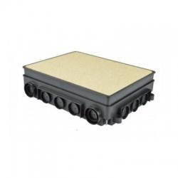 KUP 80 FB krabica univerzálna podlahová, čierna
