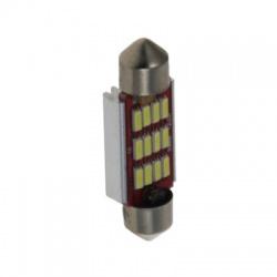 LED žiarovka 12V 160mA s päticou sufit (39mm), biela