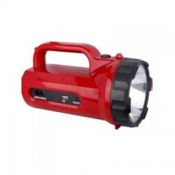 LED svietidlo nabíjacie s power bankom, 5W, 235lm, červené