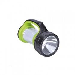 Nabíjacie LED svietidlo s lampášom, 3W Cree, 168lm + 200lm, zeleno-čierna