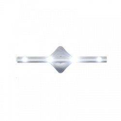 LED batériové svietidlo, hliník, univerzálne, samolepiace
