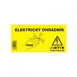 Výstražná tabuľka na elektrtické ohradníky 0,7mm