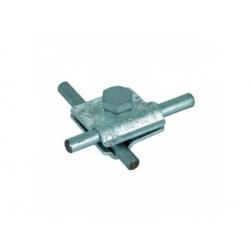 Univerzálna svorka MV kruhový vodič 2xRd 8-10mm, Al