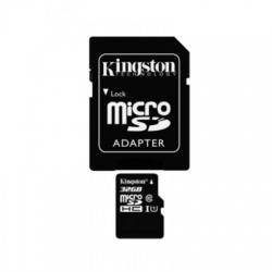 32GB microSDHC karta Kingston Class10 UHS-I + adaptér