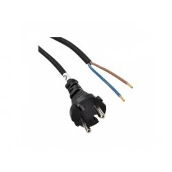 Flexo šnúra, 2,5m, 2x1,5mm2, gumová, čierna