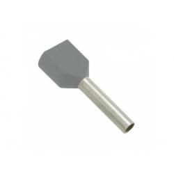 2x0,75 dutinka dvojitá, dĺžka 8mm, šedá