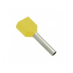2x6 dutinka dvojitá, dĺžka 14mm, žltá
