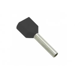2x6 dutinka dvojitá, dĺžka 14mm, čierna