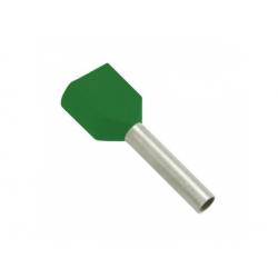 2x16 dutinka dvojitá, dĺžka 14mm, zelená