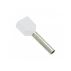 2x0,5 dutinka dvojitá, dĺžka 8mm, biela
