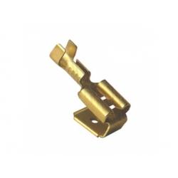6,3x0,8mm, 1,5-2,5mm2, konektor odbočný neizolovaný, mosadzný