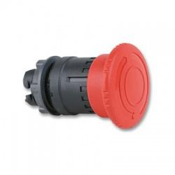 Okrúhla hríbová hlavica pre núdzové vypnutie, priemer 40mm, uvoľnenie otočením, červená
