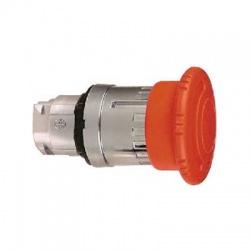 Okrúhla hríbová hlavica pre núdzové vypnutie, priem.40mm, uvoľnenie otočením, kov, červená