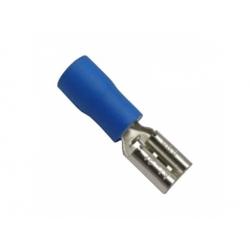 6,3x0,8mm, 2,5-4mm2, konektor s izoláciou, modrý