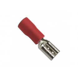 6,3x0,8mm, 1,5mm2, konektor s izoláciou, červený