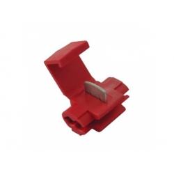 0,5-1mm2, zárezová svorka, izolovaná, červená