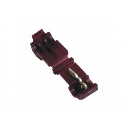 0,5-1mm2, záverová svorka, izolovaná, bordová