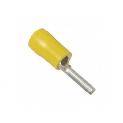 6mm2, lisovací kolík izolovaný, žltý