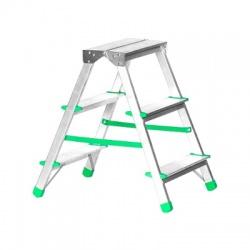 Rebrík obojstranný 3 stupňový