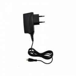 USB nabíjací adaptér, 1x USB, 1500mA max., AC 230V, čierny