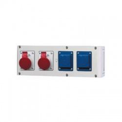 Zás.rozvodnica 2x32A 4-pólová +2x230V