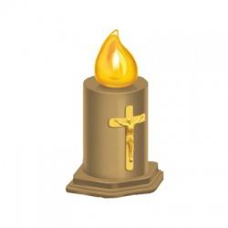 K-AURIS LED sviečka, 2xR14, žltý plameň
