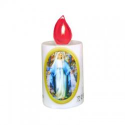 "LUNARIS LED sviečka ""Panna Mária"", 2xR6, červený plameň"