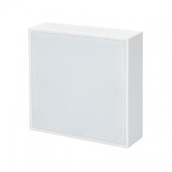 WD128 16W LED panel s tenkým rámčekom, štvorcový, teplá biela, biely