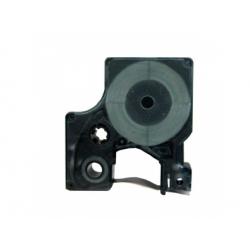 """6mmx7m, 1/4""""x23´, Dymo páska D1, čierno/priehľadná"""