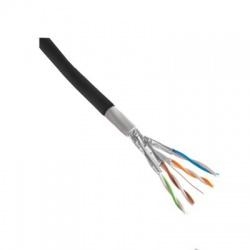 F/UTP 4x2xAWG24, Cat.5e, 300 MHz, čierny