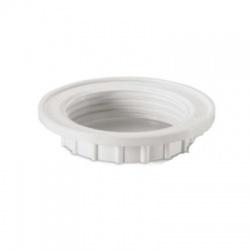 Upevňovací krúžok E14 biely