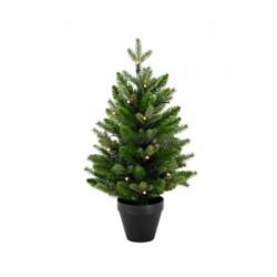 Umelý vianočný stromček s LED, 60cm, 2D+3D