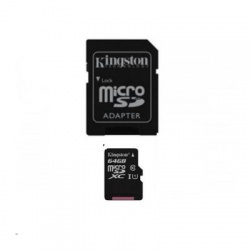 Pamäťová karta Kingston Canvas Select microSDXC 64GB Class 10 UHS-I 80/10 MB/s (+ adaptér)
