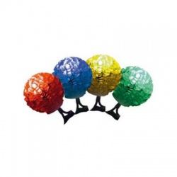 LED svetelný reťazec, EVA guľa, farebné